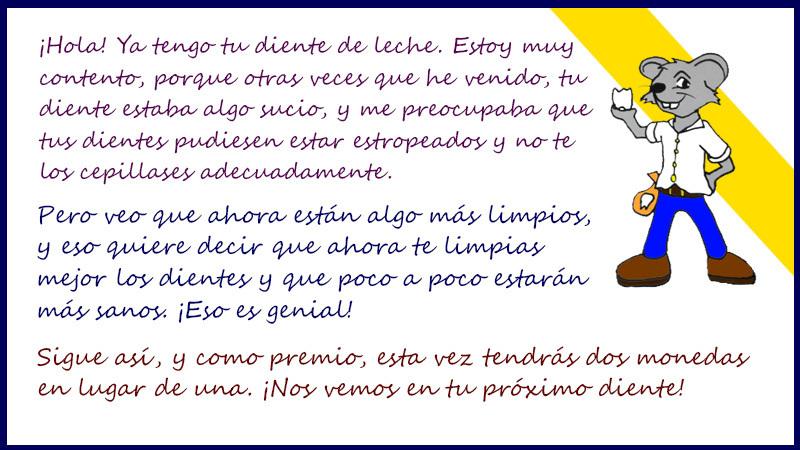 Ratoncito Pérez carta