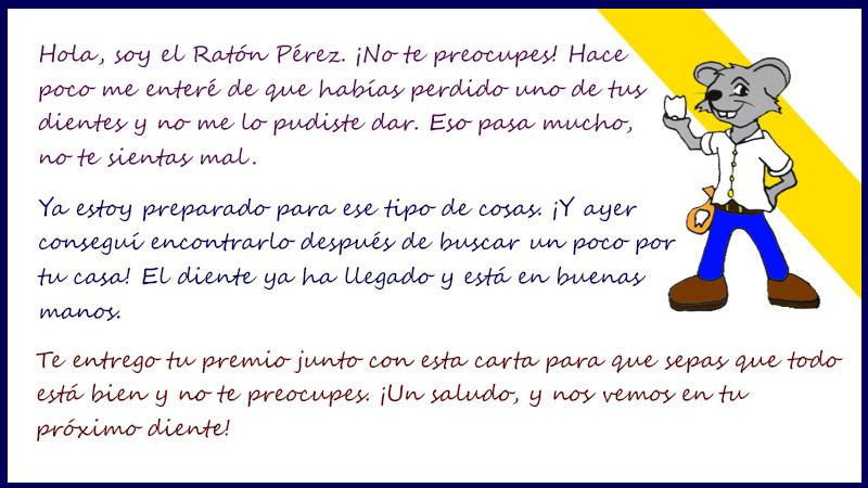 Cartas Del Ratoncito Pérez Cartas Personalizadas Y Para Imprimir
